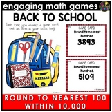 Back to School Round to Nearest Hundred Within 10,000