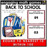 Back to School Round to Nearest Ten Within 100