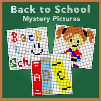 Back to School Rounding Numbers Mystery Pictures