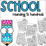 Back to School Rounding to Hundreds Coloring