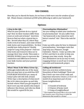 Back to School- Routines Assignment (Great way to get to know your students!)