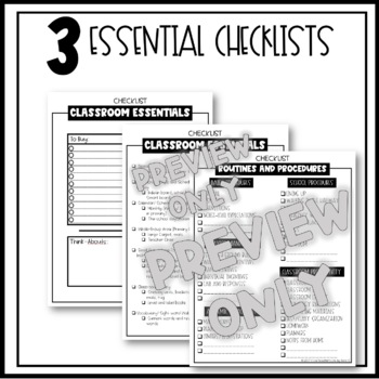 Back to School Routines and Procedures Checklist