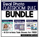 Back to School Rules Activities with Real Photos BUNDLE