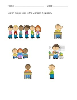 Back to School Rules Poem and What's In Your Backpack Activity