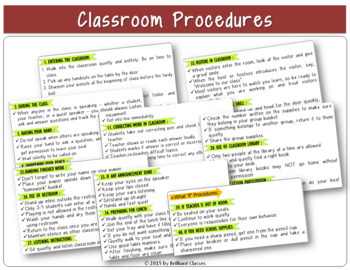 Back to School Rules, Procedures and Expectations