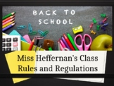 Back to School Rules & Regulations PPT