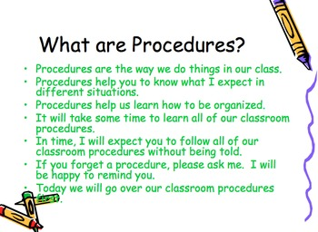 Back to School Rules and Procedures Power Point