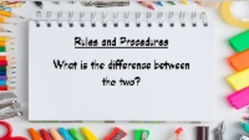 Back to School - Rules and Procedures PowerPoint and Quiz