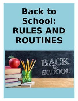 Back to School: Rules and Routines