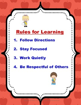 "Rules for Learning"" Poster"