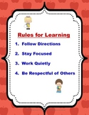 """Rules for Learning"""" Poster"""