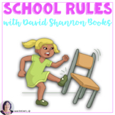"Back to School Rules with ""David Goes to School""  and ""No David"""