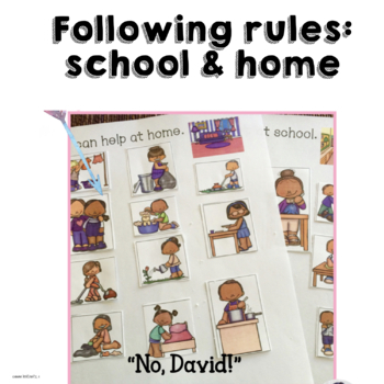 """Back to School Rules with """"David Goes to School""""  and """"No David"""""""