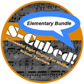 S-Cubed!  The Elementary Music Sight Singing Bundle!  Lessons 1-5!