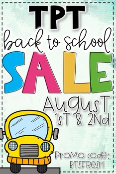 Back to School SALE Buttons (August 2018)