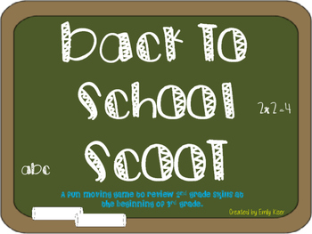 Back to School SCOOT (math)