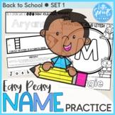 Back to School SET 1 - Easy Peasy Name Practice Activities - PreK, Kinder