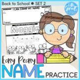Back to School SET 2 - Easy Peasy Name Practice Activities - PreK, Kinder