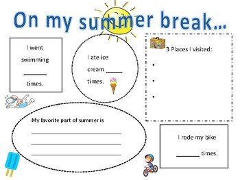 Back to School SIMPLE writing activity!
