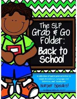 Back to School SLP Grab and Go Folder