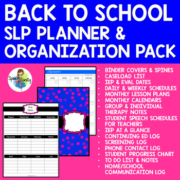 Back to School SLP Planner & Organization Pack