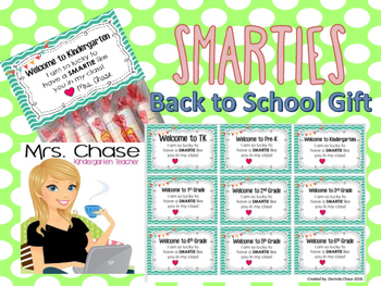 Back to School SMARTIES Gift - Pre-K to 6th Student Gifts