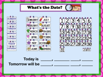 Back to School - SMARTboard Calendar Math