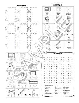 Back to School SPANISH MEGA Pack (games, worksheets, workbooks, Smartnotebook)