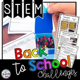 Back to School STEM Activities and Challenges