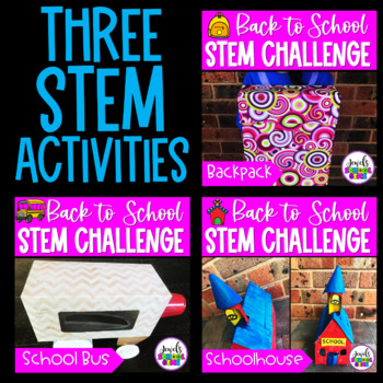 Back to School STEM Activities and Challenges BUNDLE