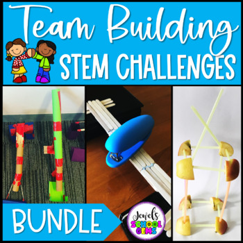 Back to School STEM Activities BUNDLE (Team Building STEM Challenges)