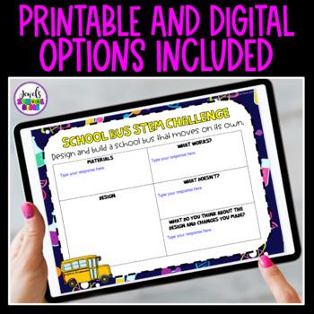 Back to School STEM Activities (School Bus Back to School STEM Challenge)