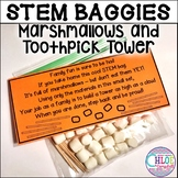 Back to School STEM Baggie: Marshmallow and toothpick tower