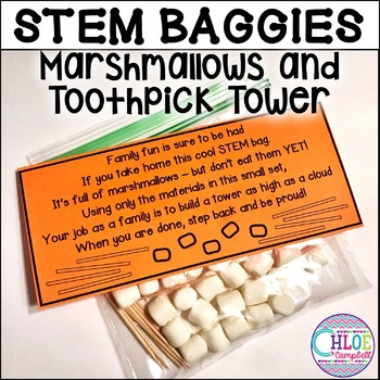 STEM Baggie: Marshmallow and Toothpick Towers | Family Activities