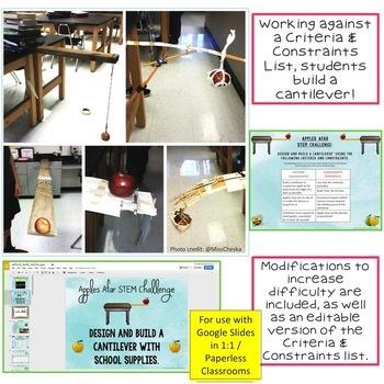 Back-to-School STEM Challenge: Apples Afar 1:1 PAPERLESS