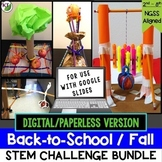 Back to School STEM Challenge Activities: 1:1 PAPERLESS Version