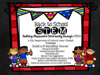 Back to School STEM Challenge & Classroom Community Activi