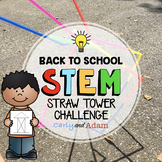 Back to School STEM Challenge: Straw Tower Builder Activity