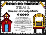 Back to School STEM & Classroom Community Activity Pack -