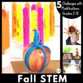 Fall and Apple STEM Activities Bundle: 5 STEM Challenges