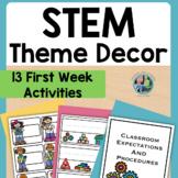 Back to School STEM Makerspace Theme Digital Options
