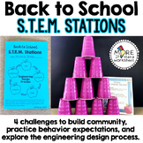Back to School STEM Stations