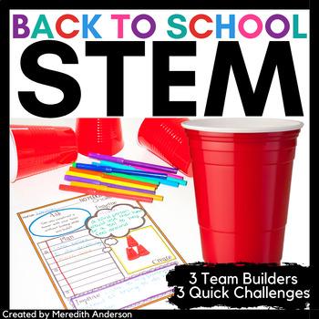Back to School STEM Team Builders and Icebreakers