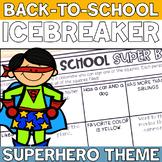 Superhero Theme Back to School Super Bingo