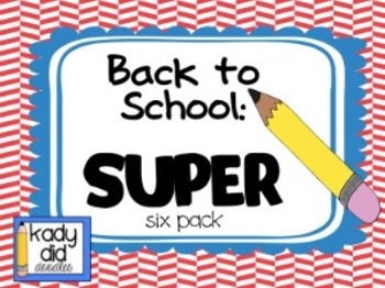 Back to School SUPER Six Pack: Calendars,Schedule Cards, and More!