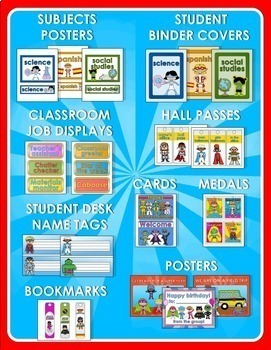 Back to School - SUPERHERO CLASSROOM THEME 2.0 - OVER 1000 PAGES!!!