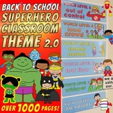 SUPERHERO CLASSROOM THEME 2.0: OVER 1000 pages!