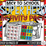 Back to School SUPERHERO THEME Pack