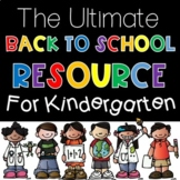 First Day of School Activities  |  Kindergarten Back to School