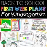 First Day of School Activities     Kindergarten Back to School